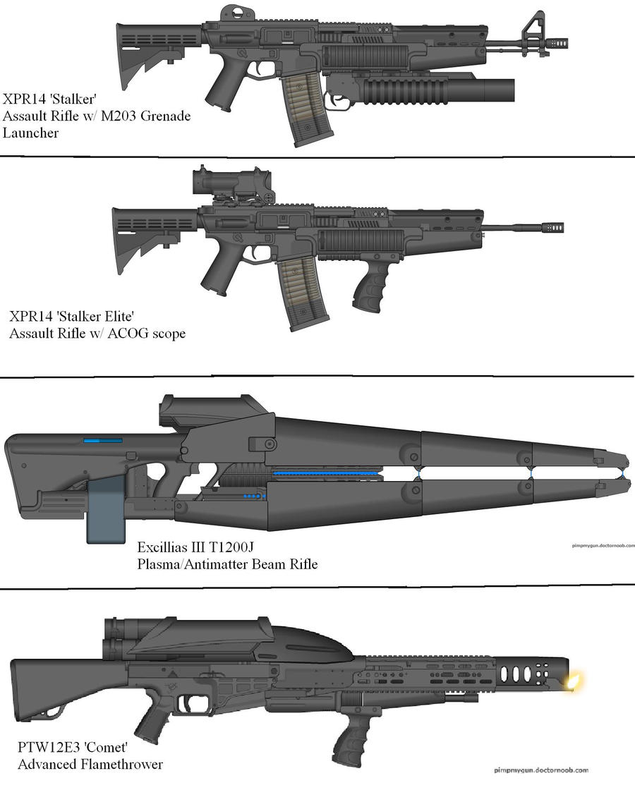 Military Weapon Variants 34 by Marksman104