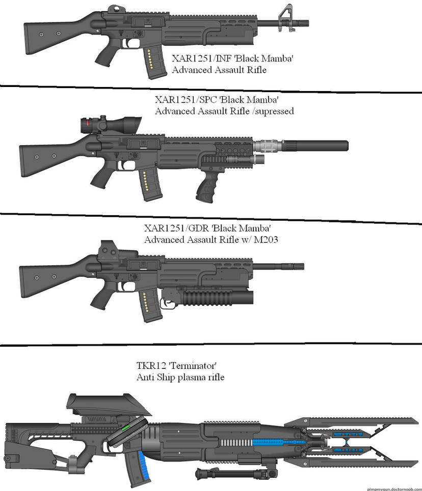 Military Weapon Variants 40 by Marksman104