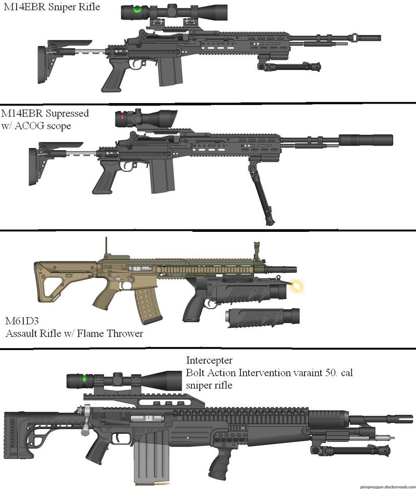 Military Weapon Variants 48 by Marksman104