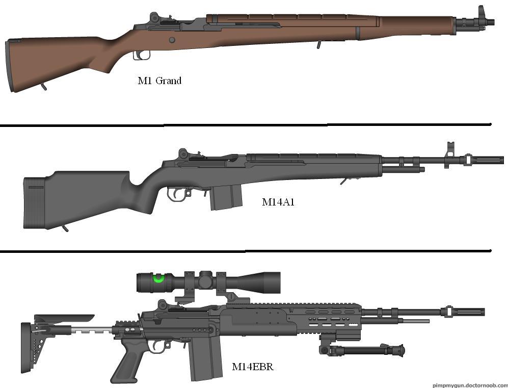 M1 Rifle to M14EBR by Marksman104 on DeviantArt M14 Wallpaper