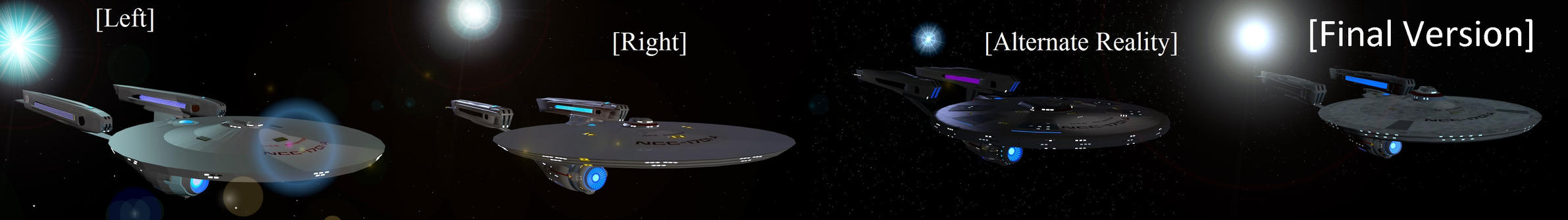 Constitution Refit Mk II old and new by Marksman104