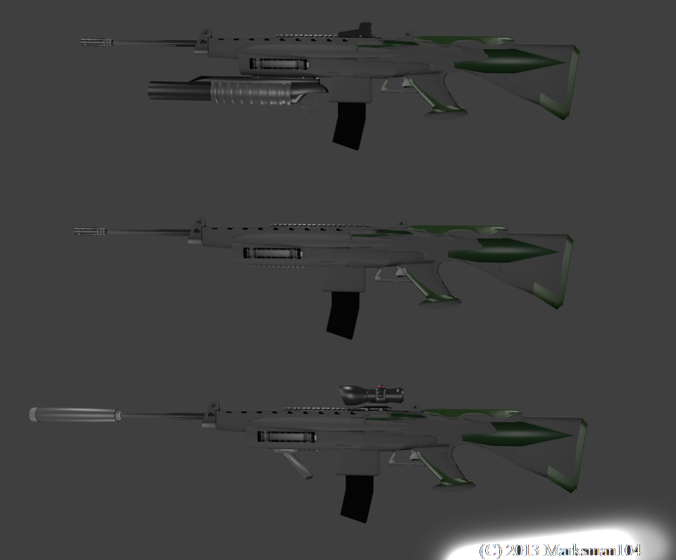 M4X1 Advanced Assault Rifle by Marksman104
