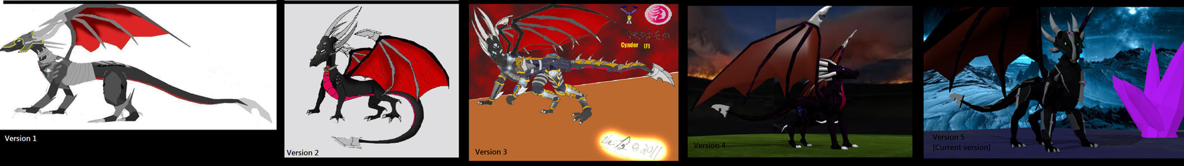 Character Evolution - Cynder v1-5 by Marksman104