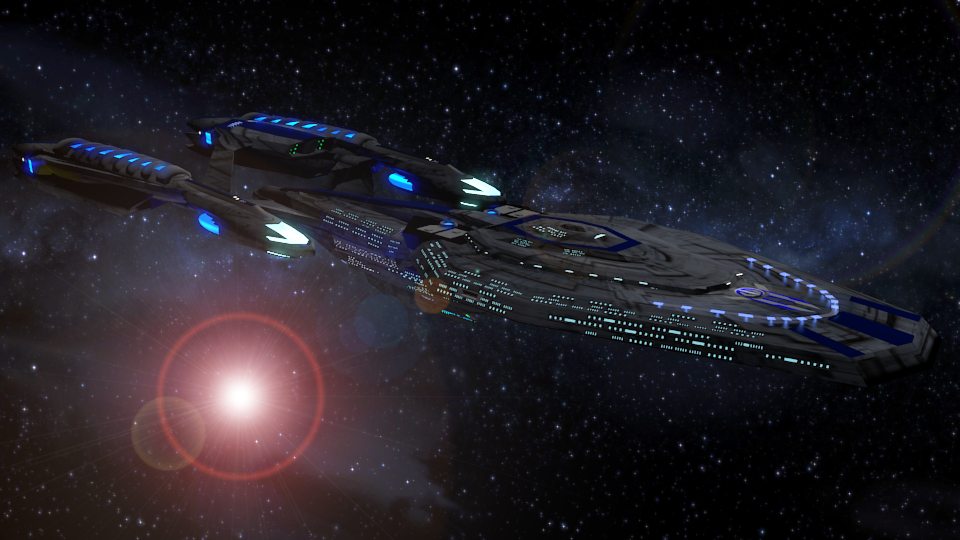 UMSS Trenalk RGN-1801-A  Leviathan Class Refit by Marksman104