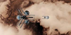 The Martian Dust Storm Below