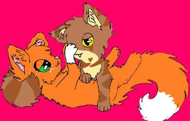 warrior cats Squirrelflight x Bramblestar by Firemax09