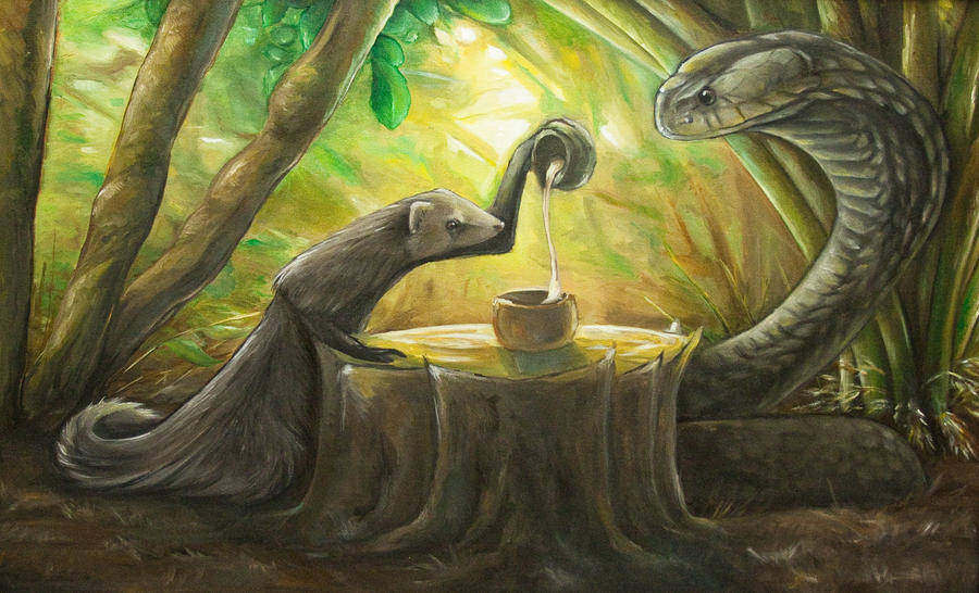 Random Stuff - Page 8 Tea_time__mongoose_and_cobra_by_puppy_chow-d34nwqr