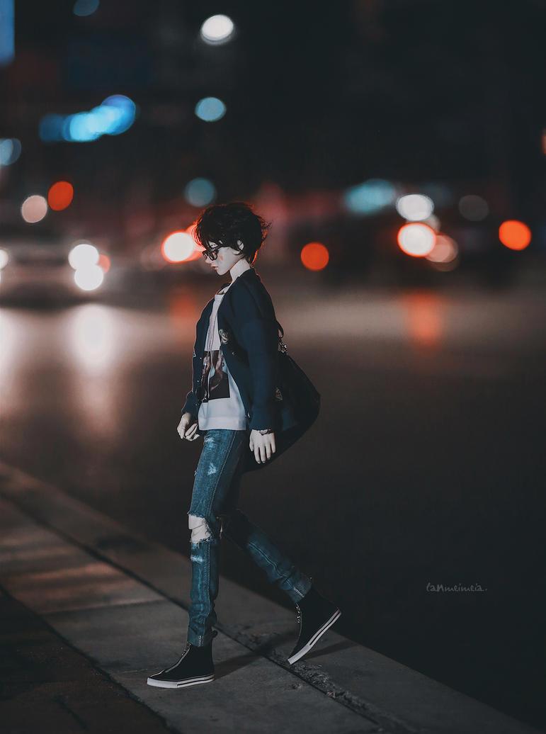 Road night by lanmeimeia