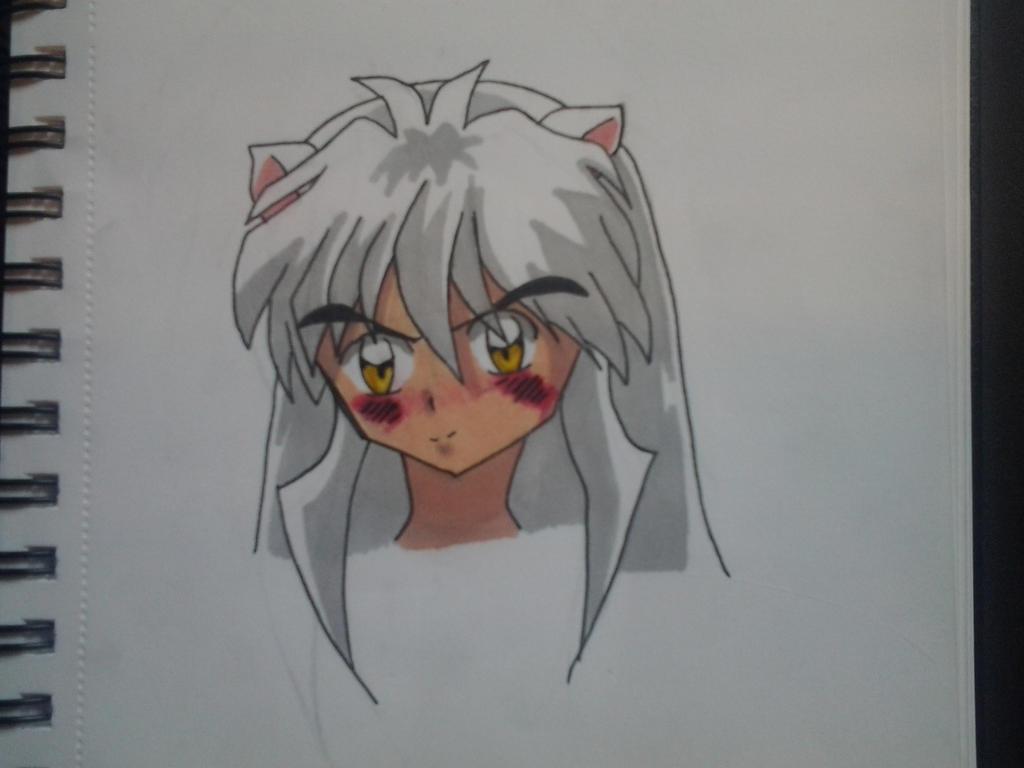 Inuyasha Blushing By Kagomeh202 On Deviantart