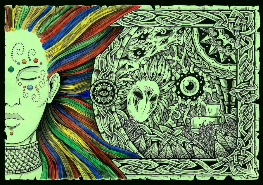 вопросы Девушка как рисовать психоделические рисунки способ ловли суслика