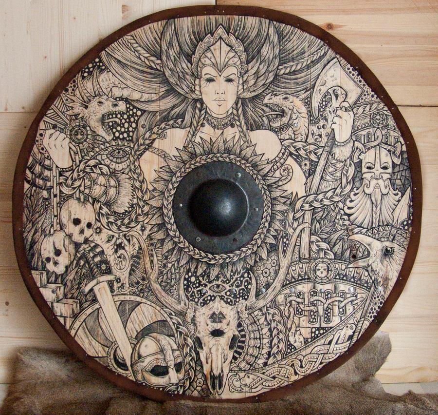 Viking Shield Valkyrie by ZawArt