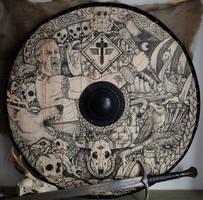 Manowar viking shield by ZawArt