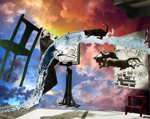 Dali In the Sky with Cats