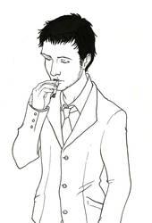 Handsome smoker