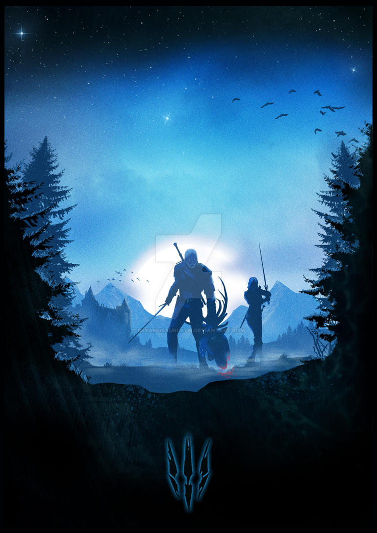 Witcher 3 Minimalist Poster by Bryanosaurus777
