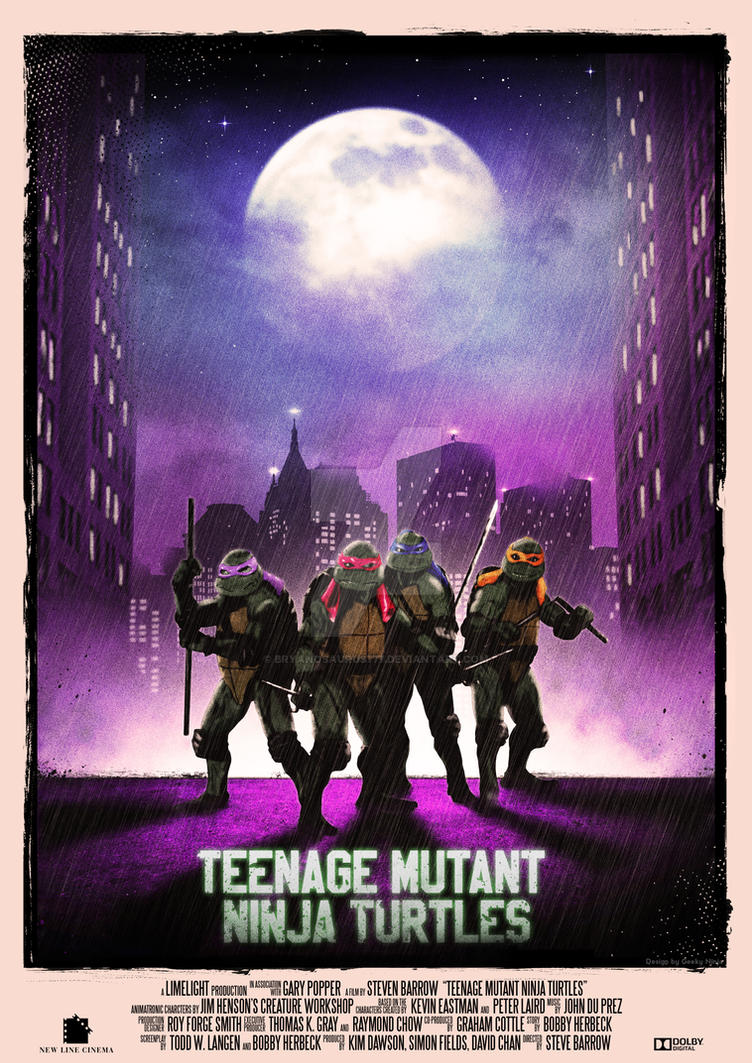 Teenage Mutant Ninja Turtles - 1990 by Bryanosaurus777