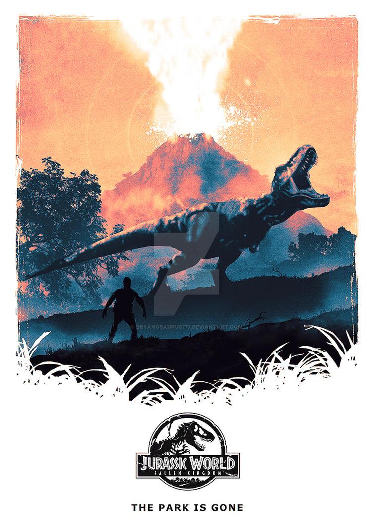 Jurassic World - Fallen Kingdon - Movie Poster by Bryanosaurus777