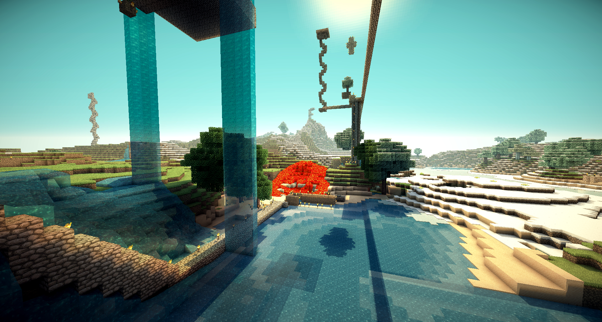 Minecraft wallpaper no 1 39 my second home 39 by ma573rmind on for My house wallpaper