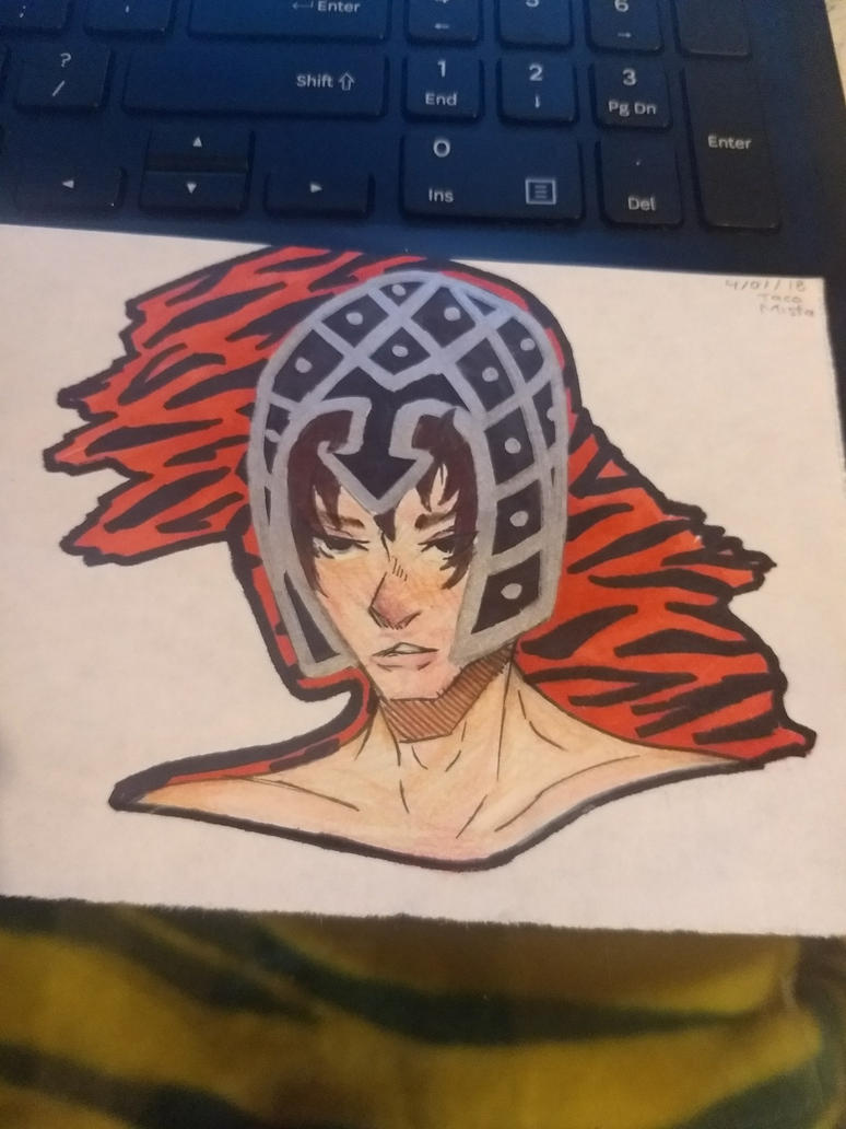 Quickly Doodle of Jojo's - Guido Mista by TitanSayan