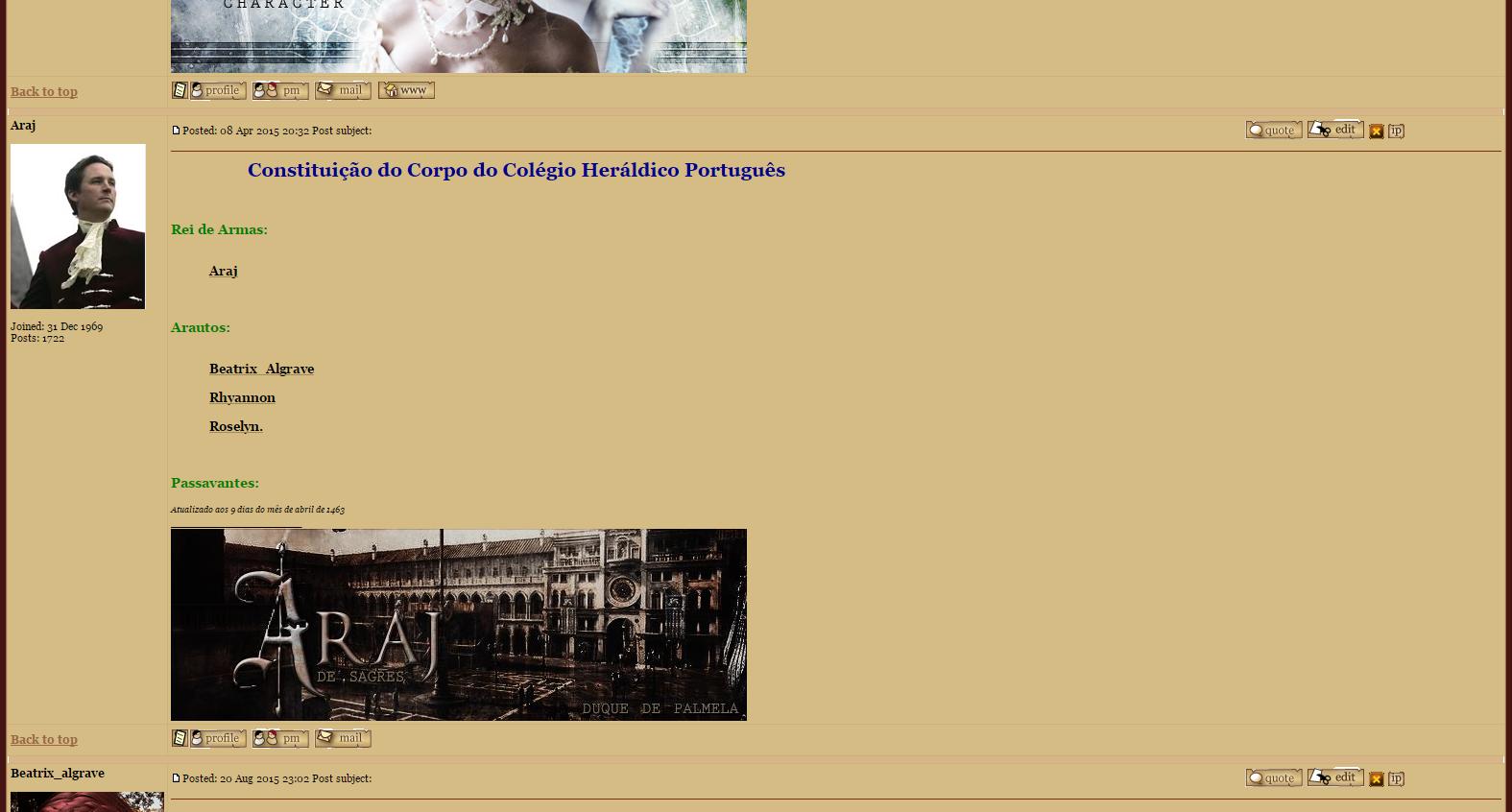 Integrada ao Corpo do Colégio Heráldico