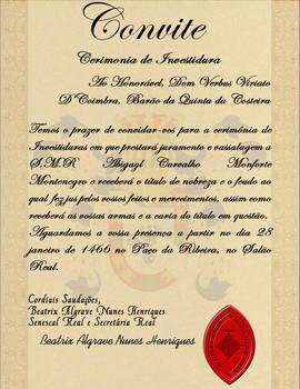 Verbus Convite Investidura 1466