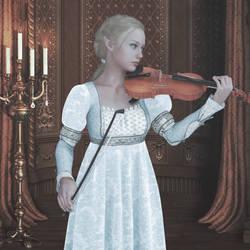 Violinist Blue Dress