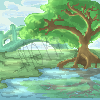 Pixel Art - Peaceful Pound by TheEmeraldCat131