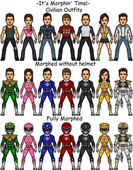 Mighty Morphin' Power Rangers of Deviantart.com by SpiderTrekfan616