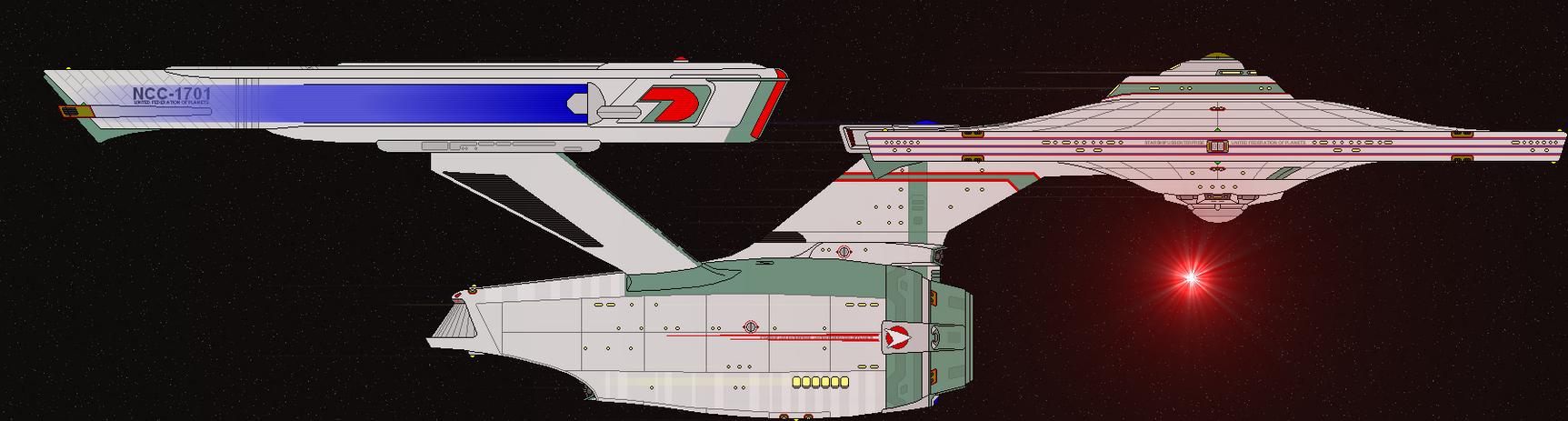 Filomina NCC-1726 Warp Torpedo launch by SpiderTrekfan616