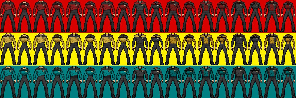 Ranzverse Starfleet Uniforms by SpiderTrekfan616