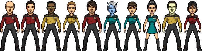Stephen Shuey's Star Trek TNG Season 1 by SpiderTrekfan616