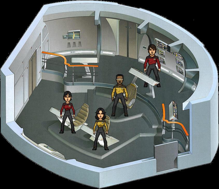 The Battle Bridge Crew TAOF by SpiderTrekfan616