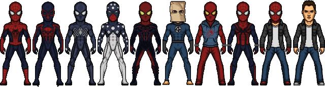 Spider-Man 2000 costumes by SpiderTrekfan616
