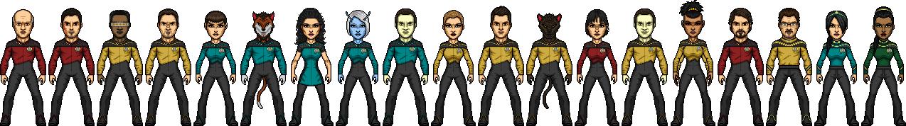 Commadore-Shuey U.S.S. Enterprise-D crew Season 2 by SpiderTrekfan616