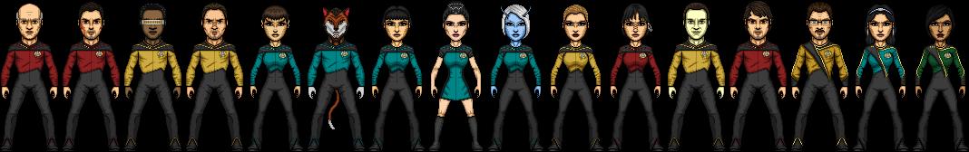 Commadore-Shuey Star Trek TNG Season 1 by SpiderTrekfan616