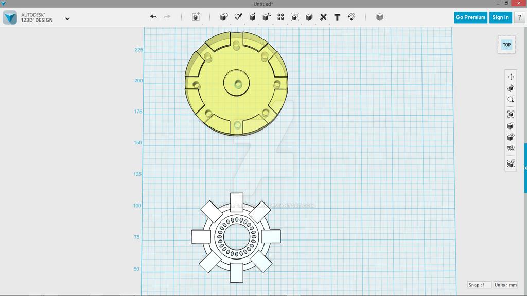 First Autodesk 123D Design project by SpiderTrekfan616