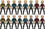 Star Trek Temporal Castaways Uniform Templates by SpiderTrekfan616