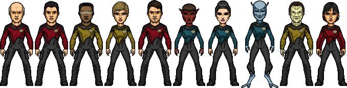 Star Trek Castaways Enterprise-D Crew 2364 by SpiderTrekfan616