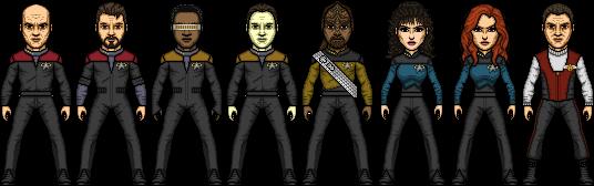 Star Trek Generations Cast by SpiderTrekfan616