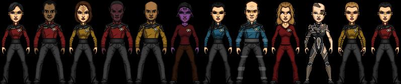 Star Trek Castaways Voyager Crew Pre-Year of Hell by SpiderTrekfan616