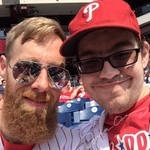 Me and My Brother at the Phillies Game by SpiderTrekfan616