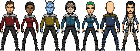 Crew of the U.S.S. Dauntless by SpiderTrekfan616