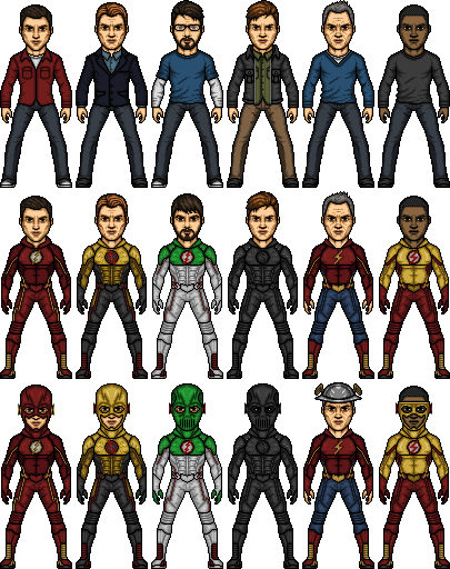 CW Speedsters (Including my OC) by SpiderTrekfan616