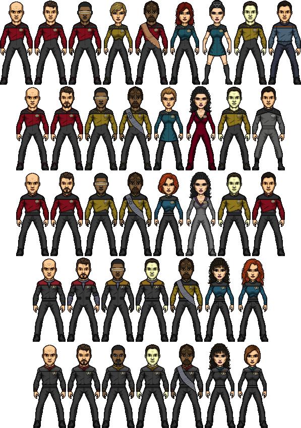 Star Trek TNG Micros by SpiderTrekfan616
