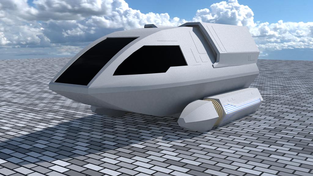 Unmarked Type 6 Shuttlecraft by SpiderTrekfan616