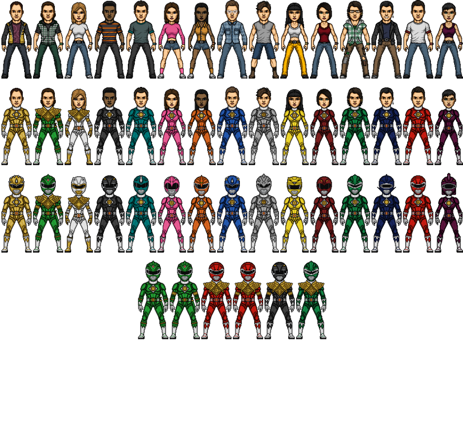Commadore-Shuey's Power Rangers Dino Storm WIP by SpiderTrekfan616