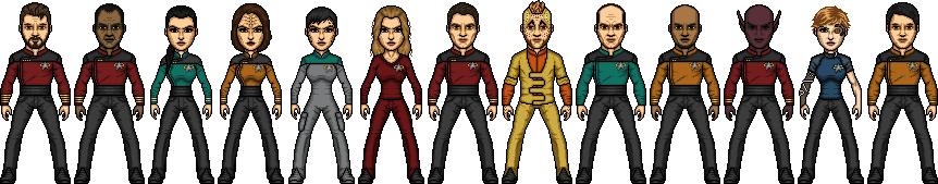 Castaways Voyager Crew Lineup concept by SpiderTrekfan616