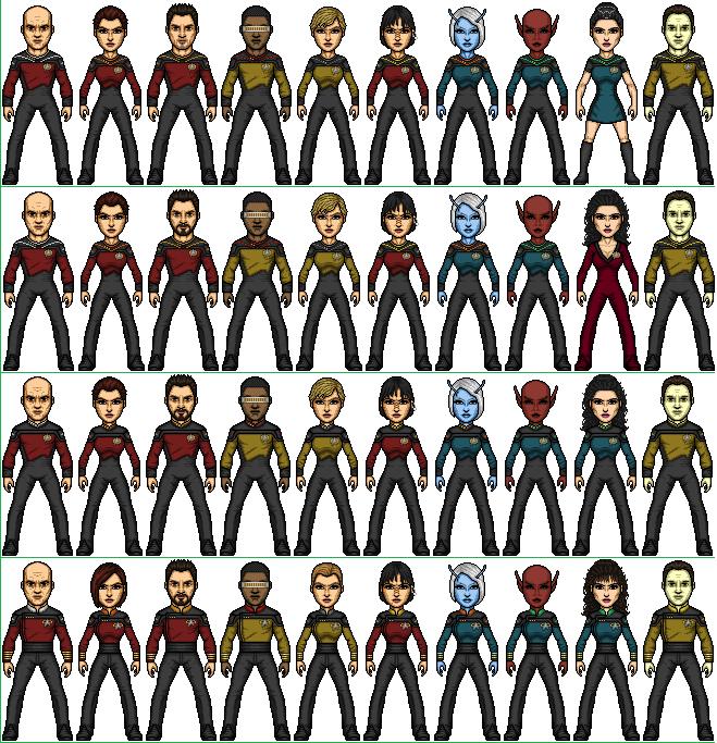 Castaways TNG Crew 2364-2371 by SpiderTrekfan616