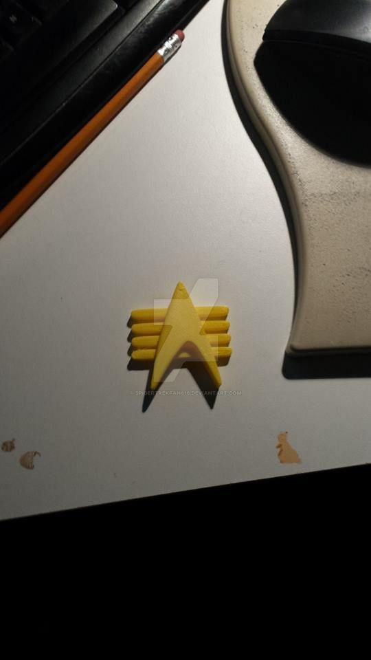 3d printed Combadge by SpiderTrekfan616