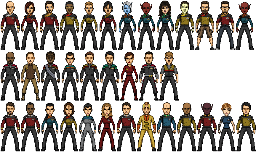Castaways TNG Era Crews by SpiderTrekfan616